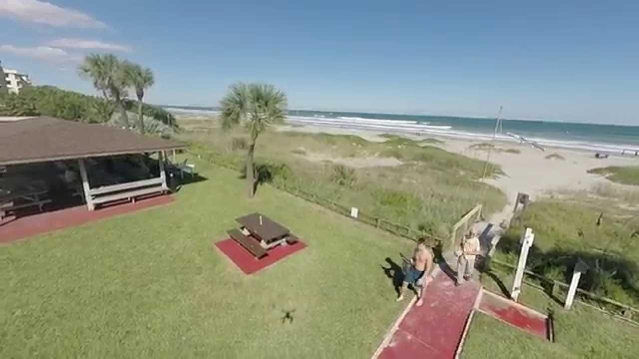 Cocoa Beach Flyover From Sea Aire Motel Blade 350 Qx