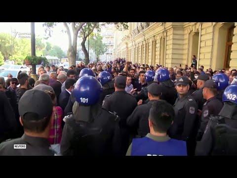 Как в Баку разогнали согласованную с властями акцию