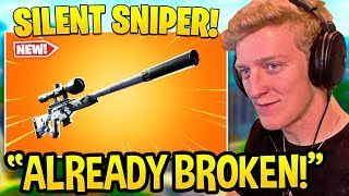 TFUE REACTS To *NEW* SILENCED SNIPER *LEGENDARY* - Fortnite FUNNY Moments