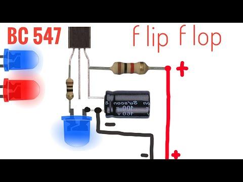 Flip Flop Circuit / Bildirim Ledi Devresi / Blink Circuit / Yanıb Sönen Işıq