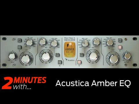 Acustica Amber EQ VST/AU plugin in action!