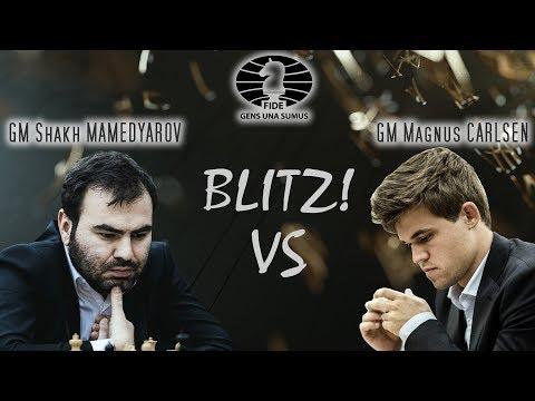 Shakhriyar Mamedyarov vs Magnus Carlsen. King Salman World Blitz Championships 2018