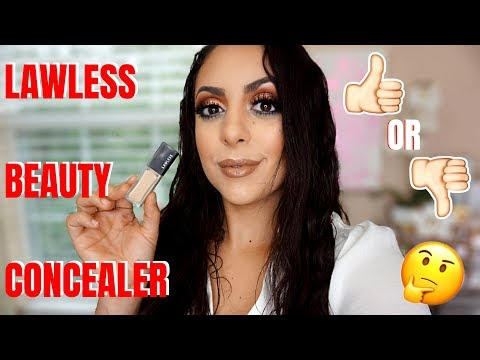 LAWLESS BEAUTY MOUSSE CONCEALER REVIEW + 10 HOUR WEAR TEST ! thumbnail