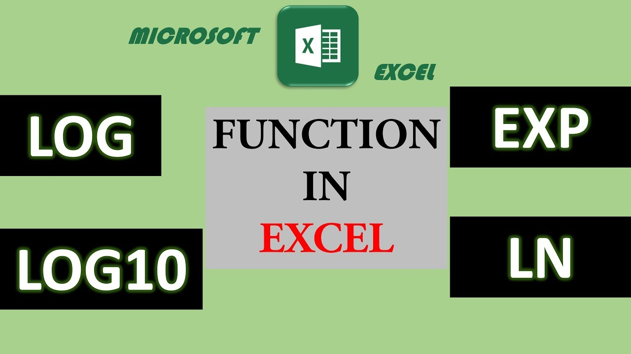 20. LOG, LOG20, EXP, LN function in Excel   Math & Trig