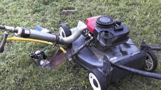 Vegetable Oil Vapor Carburetor - Running A Gas Engine On Grease!