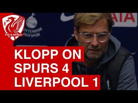 "Jurgen Klopp on Tottenham 4-1 Liverpool: ""It's our responsibility"""