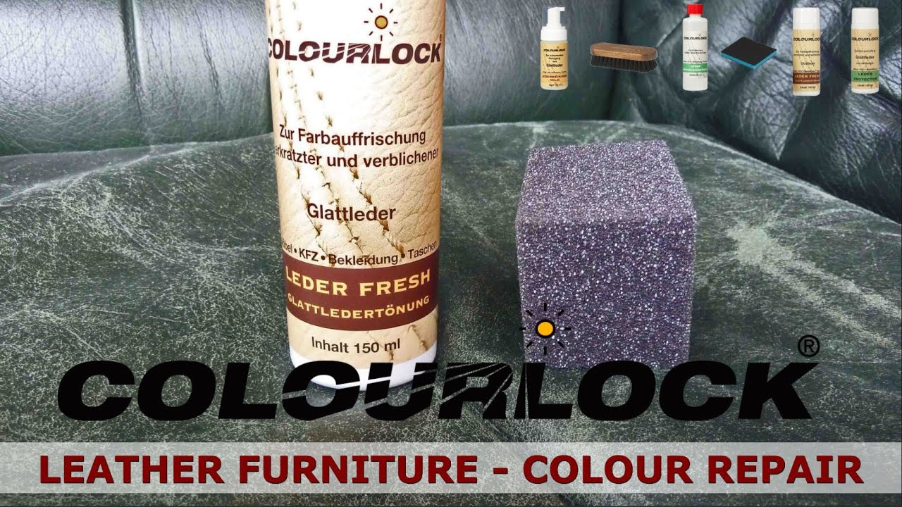 how to clean repair and care leather furniture - www.colourlock