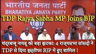 चंद्रबाबू नायडू को बड़ा झटका: 4 राज्यसभा सांसदों ने TDP से दिया इस्तीफा BJP में हुए शामिल !