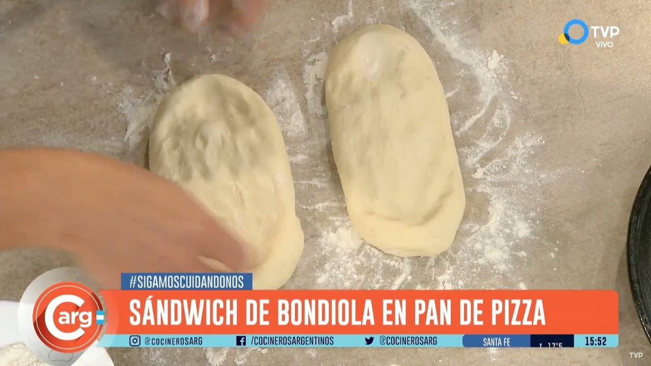 EL MEJOR SANDWICH DE BONDIOLA CON PAN DE PIZZA