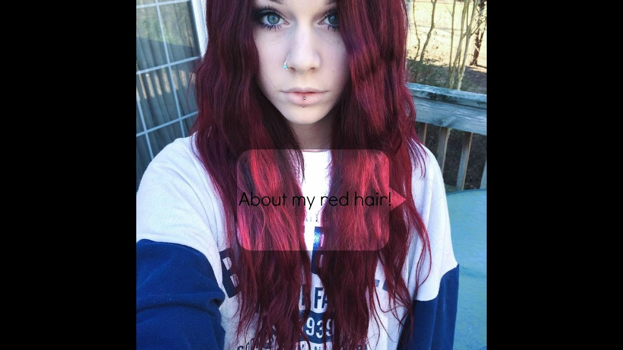 Brown to red hair without bleach! - YouTube