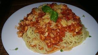 Спагетти болонезе с куриной грудкой