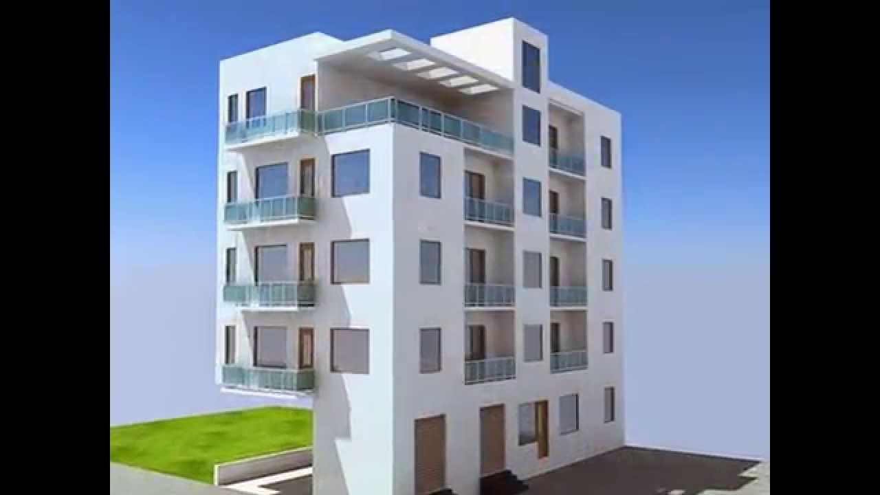 3D Exterior Design of Apartments - YouTube