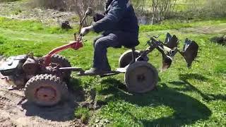 Как справляется минитрактор МТЗ с посадкой картошки