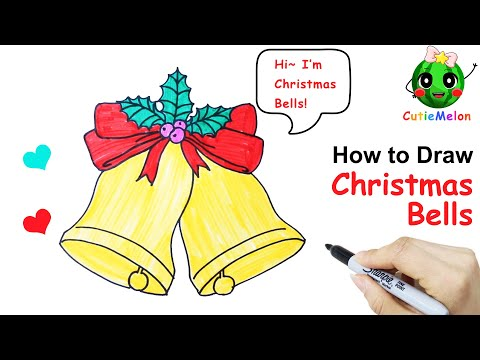 Christmas Bells Coloring and Drawing Class -  Art Tutorial -  Drawing Teaching Skills thumbnail