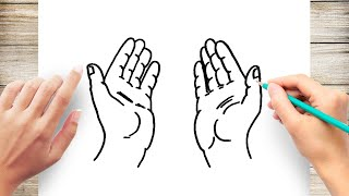 How to Draw Praying Hands for Kids Step by Step