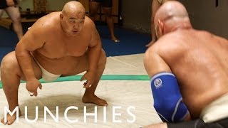 The 10,000 Calorie Sumo Wrestler Diet: FUEL(Recipe: Sumo Wrestler Chanko-Nabo - http://bit.ly/12bMONV MUNCHIES introduces FUEL, a new series dedicated to the high performance diets of athletes., 2014-07-21T14:57:56.000Z)