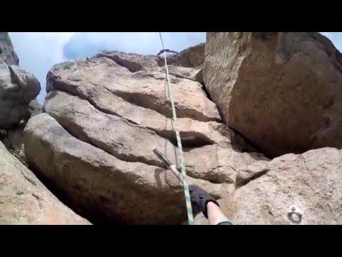 Драйтулинг на скальнике Ворона (Drytooling on the Crow rock)