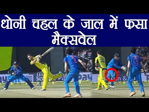 India Vs Australia 3rd ODI: MS Dhoni fools maxwell with a brilliant stumping | वनइंडिया हिंदी