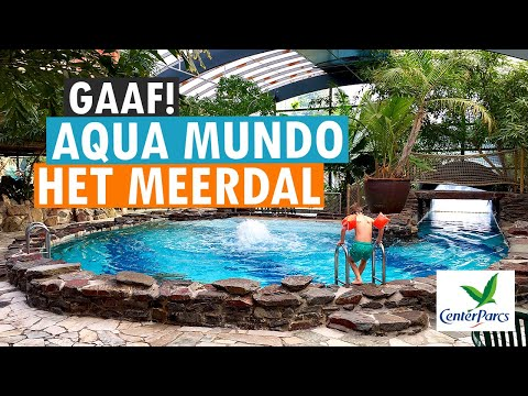 Aqua mundo zwembad van center parcs het meerdal parkvakanties