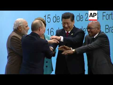 Plenary session of BRICS summit involving Brazil, Russia, India, China, SAfrica