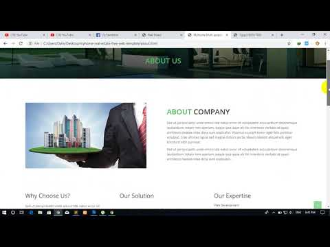 How To Make Real Estate Website In HTML And CSS About Us Page Full Tutorial Part#1 By Pen Samol In
