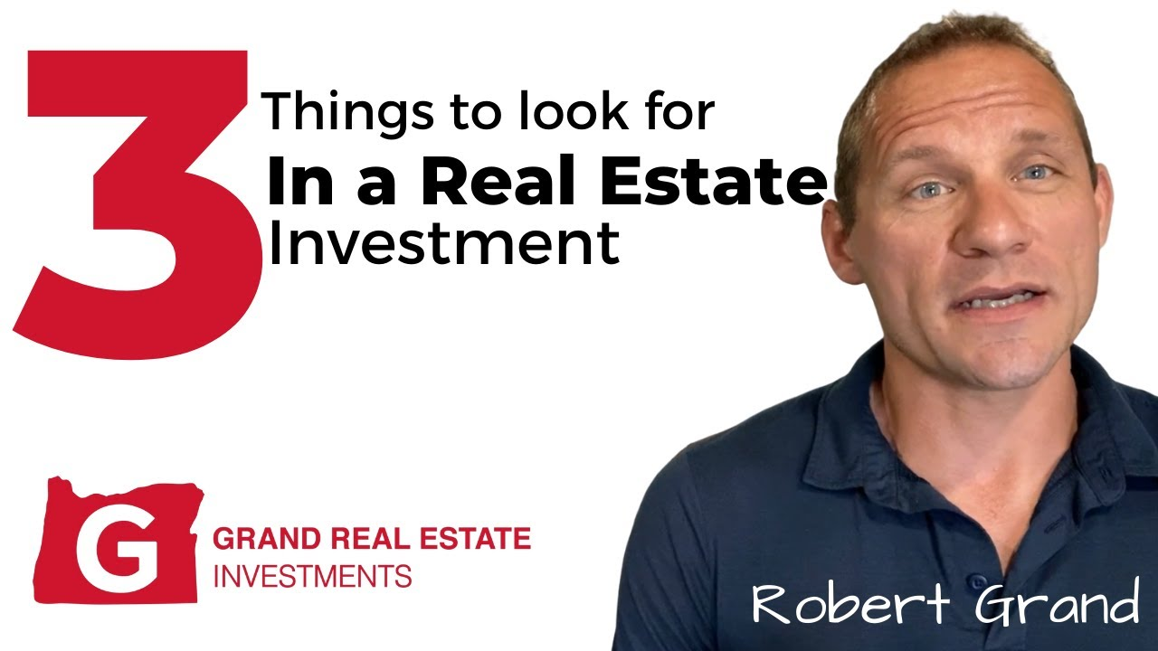 Top Three Things You Look For In a Real Estate Investment In Eugene Oregon!