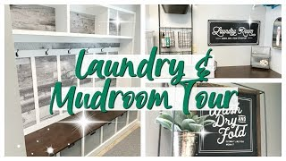 LAUNDRY & MUDROOM TOUR! | MODERN FARMHOUSE 2019