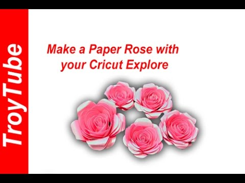 How to make a paper flower with cricut rose youtube how to make a paper flower with cricut rose mightylinksfo