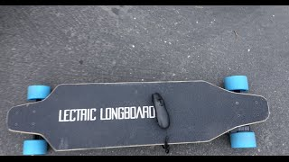 FIRST RIDE of NEW LECTRIC LONGBOARD!! Test run and REVIEW!