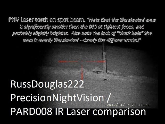 Precision Night Vision (PNV) IR Torch comparison