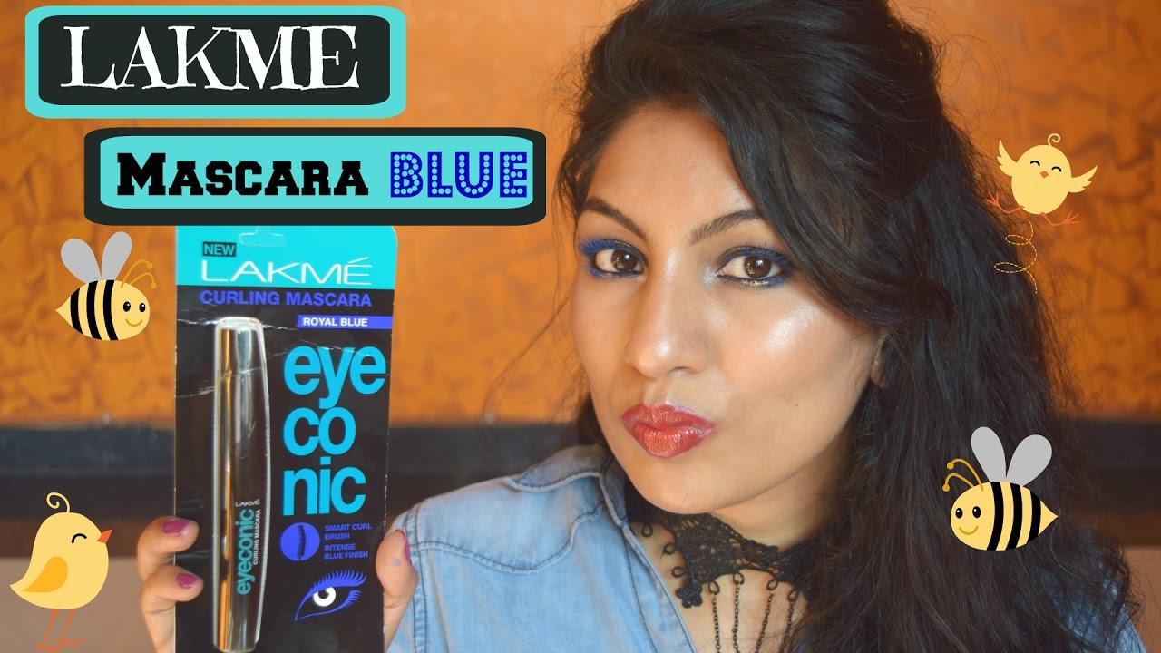 e020f8e1965 New* Lakme Eyeconic Mascara Blue| Review+ Demo| Colored Mascara ...