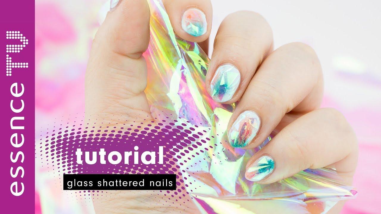 glass shattered nails nageldesign tutorial deutsch trend aus asien ...