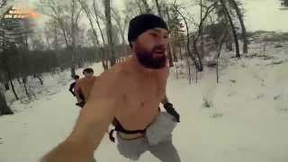 Сыроедение. Бег по снегу босиком (31.10.2014)