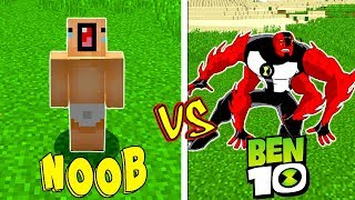 NOOB É TROLLADO PELOS ALIENIGENAS DO BEN 10 (MINECRAFT)