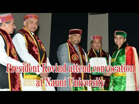 President Kovind attend convocation at Nauni University