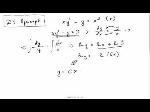 Пример линейного  диффура 1 порядка