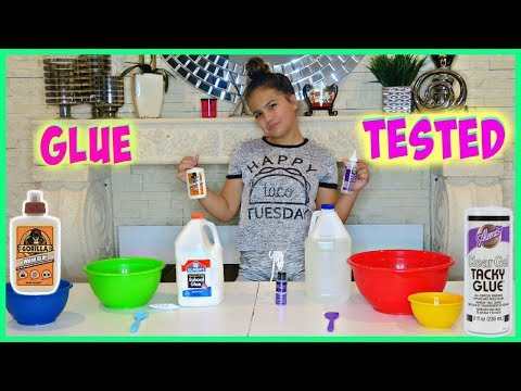 ELMER GLUE vs GORILA GLUE AND TACKY GLUE vs CLEAR GLUE !! WHICH GLUE IS BEST FOR MAKING SLIME ?
