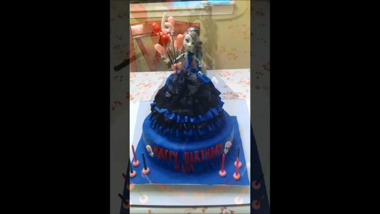 Monster High Frankie Stein Doll Cake Youtube