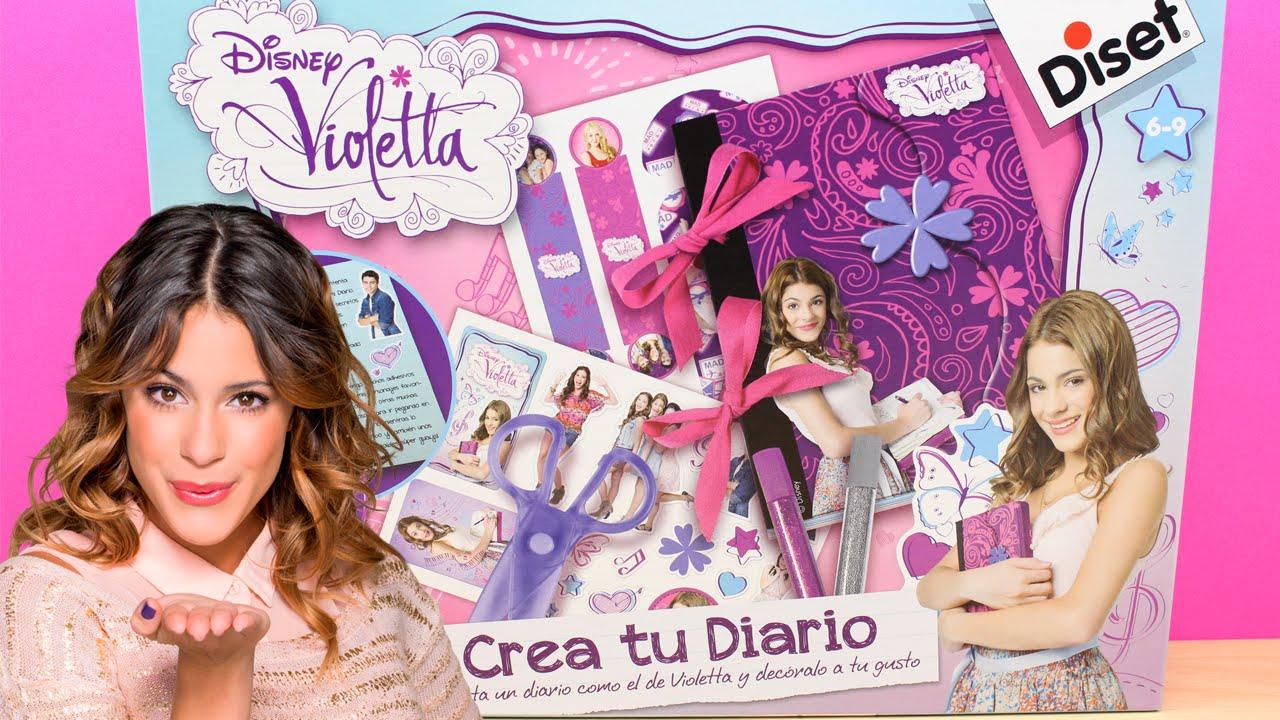 Violetta disney crea tu diario diset 46576 juguetes for Crea tu mural disney