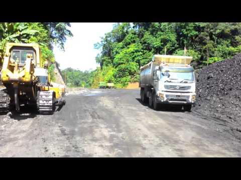 Perjalanan di tambang batu bara KPUC loreh malinau kaltara