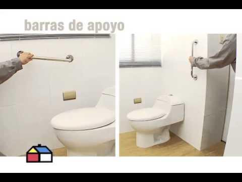 Barra soporte cortina soporte para tel fono de ducha y for Accesorios bano minusvalidos