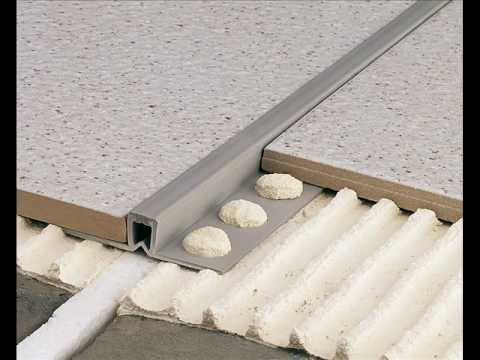 colocacin de junta de dilatacin de pvc en pavimento cermico youtube