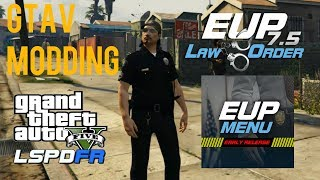 GTAV MODDING- EUP MENU and EUP LAW & ORDER INSTALLATION & BASIC WALK THROUGH (Jan. 2018)