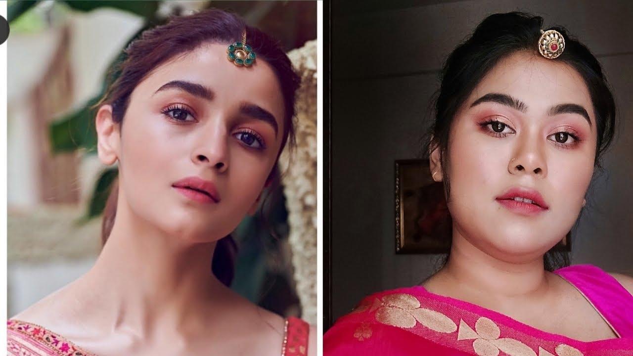 Alia Bhatt Inspired Makeup Look Bollywood Makeup Look Youtube