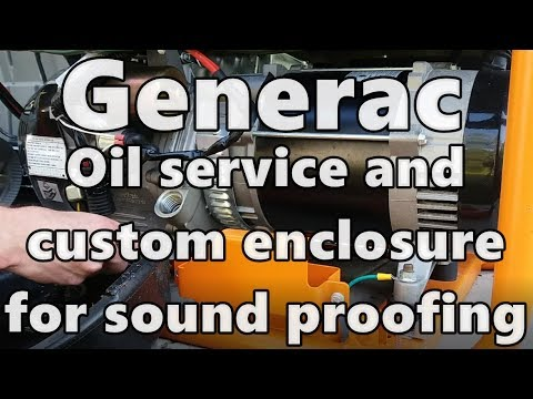 Generac Oil Change How-To  and Custom Enclosure For a Permanent QUIET Install