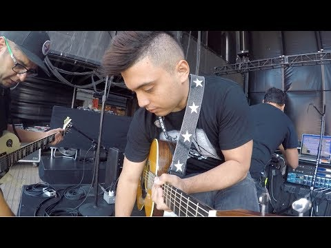 Nicky Jam Live at Jones Beach Amphitheater NEW YORK / SOUNDCHECK Guitar view KTUPHORIA
