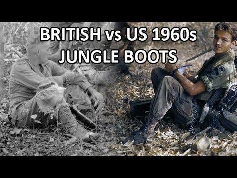 British Vs US 1960s Jungle Boots