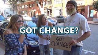Amazing Homeless Man Pays People's Parking! : Social Experiment - Prank : Human Kindness Prank