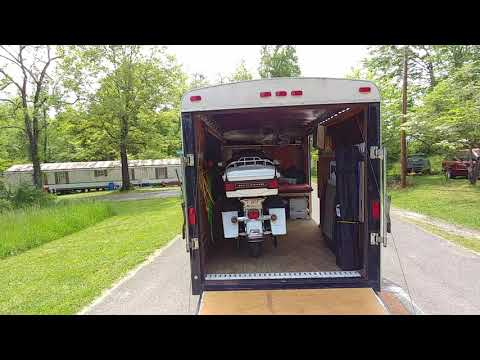 Enclosed trailer motorcycle camping