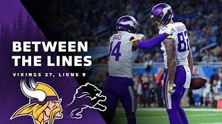 Between The Lines: Minnesota Vikings 27, Detroit Lions 9
